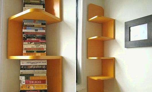 contemporary corner bookshelf – google images